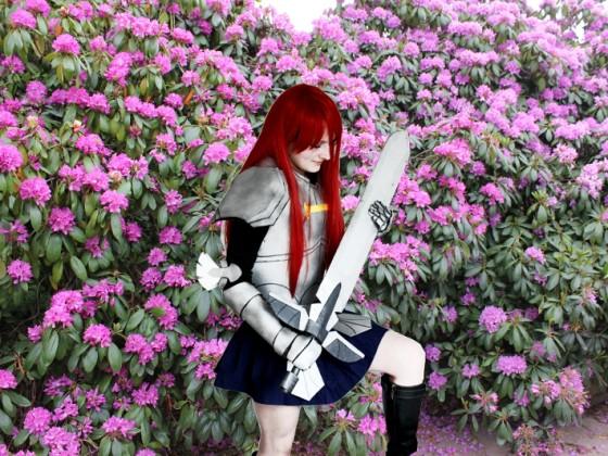 Erza Scarlet (エルザ・スカーレット Eruza Sukāretto) Titania Fairy Tail Cosplay Japantag 2015