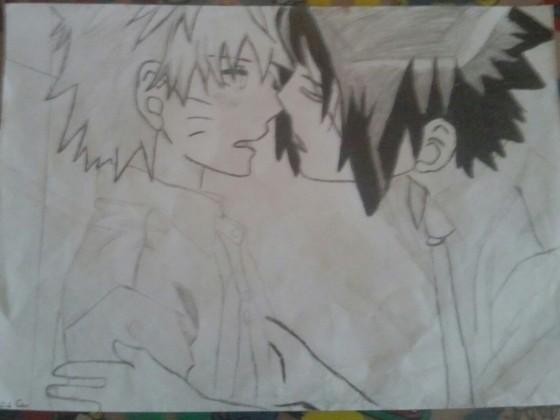 Sasuke kiss Naruto <3
