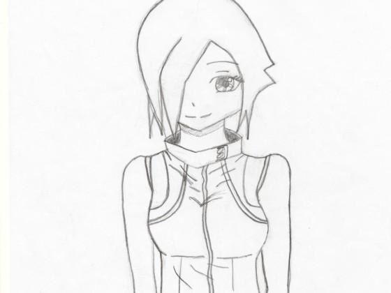 Futuristisches Bond-Girl mit epischen Haaren